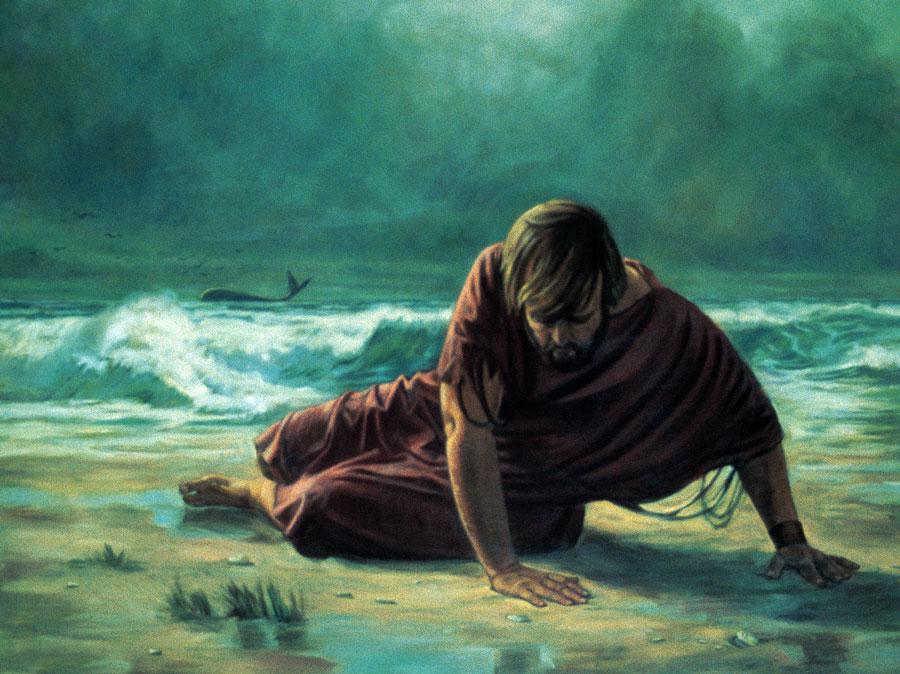 Пророк Иона на берегу в Ниневии
